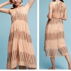 Anthropologie Akimi + Kin Ikat Dress Halter Neck